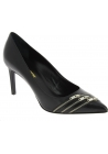 Saint Laurent Women's pointed toe classic stiletto pumps in black leather