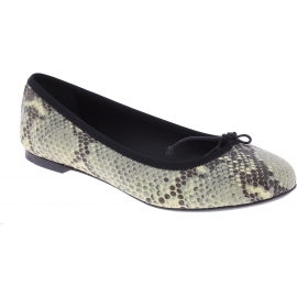 Saint Laurent Women's fashion slip-on ballet flats in grey python leather