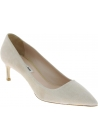 Miu Miu Women's fashion stiletto medium heel pointed toe pumps in blush suede