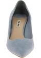 Miu Miu Women's fashion heels stiletto pumps in light blue suede leather