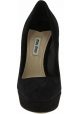 Miu Miu Women's jewelled heels stiletto fashion pumps shoes in black velvet