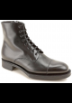 Prada Women's laced-up low heeled fashion ankle boots in black calf leather