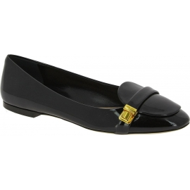 Miu Miu Women's fashion ballet flat shoes with buckle in black patent leather