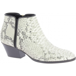Giuseppe Zanotti Women's western heel ankle boots in platinum python leather