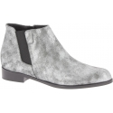 Zanotti Women's low heel ankle boots silver laminated calf leather