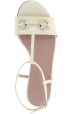 Gucci Women's fashion ankle strap flat sandals in off white patent leather