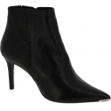 Barbara Bui Women's fashion pointed toe heeled ankle boots in black leather