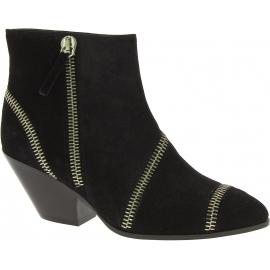 Giuseppe Zanotti Women's western heel ankle boots in black suede leather