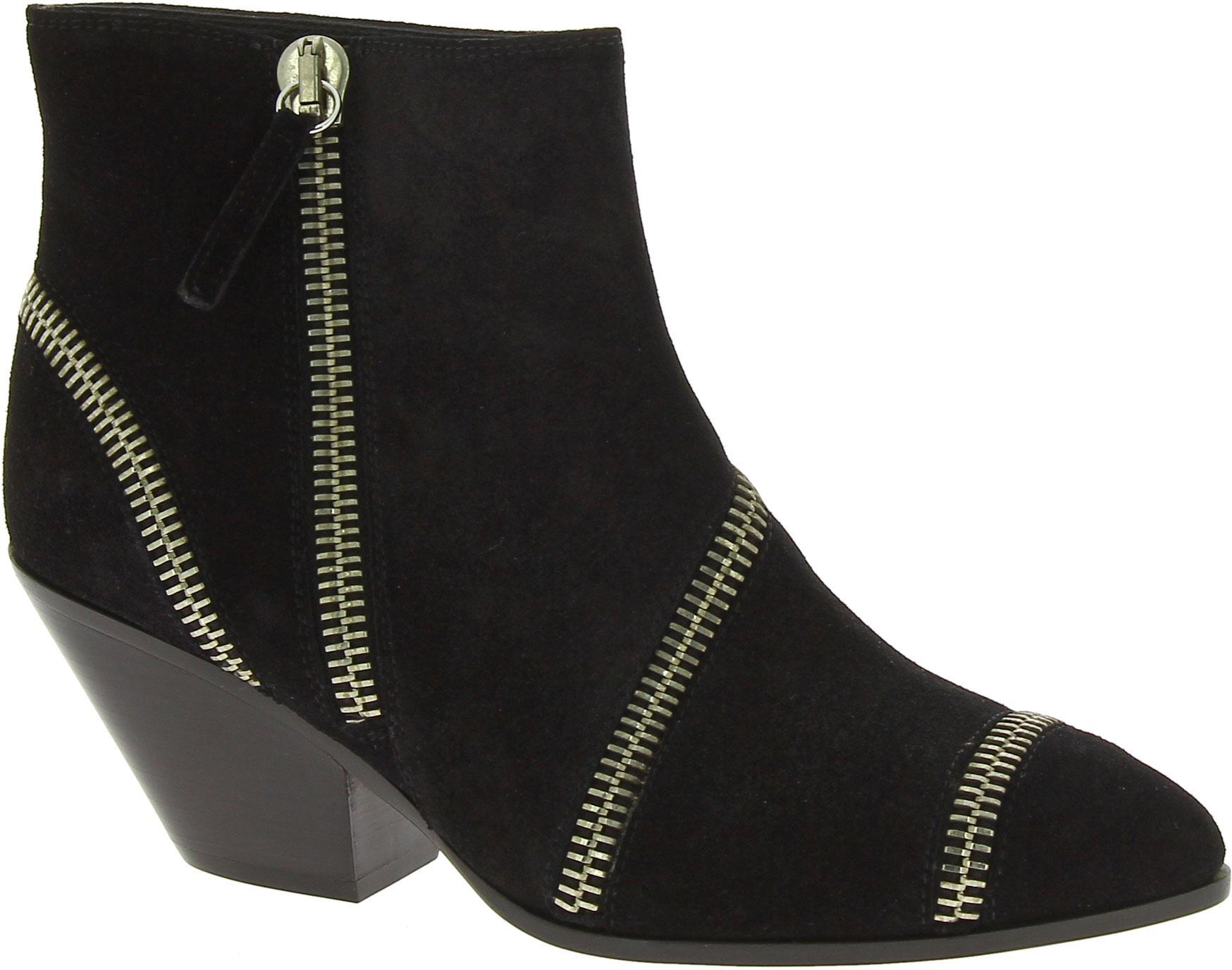 b4a2ccba5e32c Giuseppe Zanotti Women's western heel ankle boots in black suede leather -  Italian Boutique
