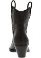 Giuseppe Zanotti Women's mid calf heeled boots in dark brown python leather