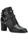 Valentino heeled ankle boots in black Leather