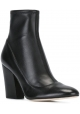 Sergio Rossi heeled booties in black Soft leather