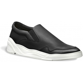 Dior men's black leather slip-ons sneaker shoes