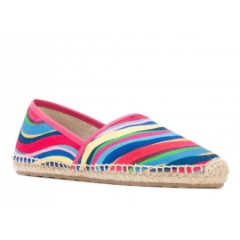 Valentino women's espadrilles in Multi-Color Canvas