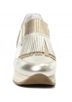 Hogan sneakers slip-ons in silver Laminated calf leather