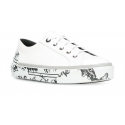 Lanvin men's low top sneakers in white Leather