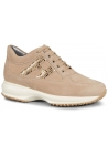 Hogan Interactive sneakers in beige suede with stitching
