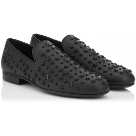 Jimmy Choo men's loafers in black Leather metal stars