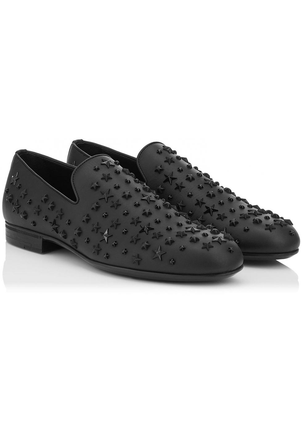 2d431f307a Jimmy Choo men's loafers in black Leather metal stars - Italian Boutique