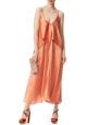 Jimmy Choo heeled sandals with platform in orange Velvet