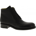 Jean-Baptiste Rautureau Men's laced-up ankle boots shoes in black leather