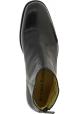 Jean-Baptiste Rautureau Men's ankle boots shoes in black leather & back zip