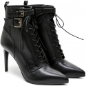 Sergio Rossi heeled booties in black Leather and Fabric