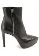 Prada platform high ankle boots in black soft leather