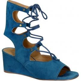 Chloé low wedge heels sandals in Overseas suede leather