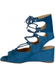 Chloé low wedge heels sandals in Overseas suede leather