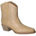 Valentino women western ankle boots in Nude Leather