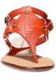 Casadei Rio flats sandals in Paprika leather