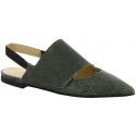Erika Cavallini flats pumps in green cracked leather