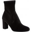 Steve Madden Women's block heels ankle boots in black velvet with side zip