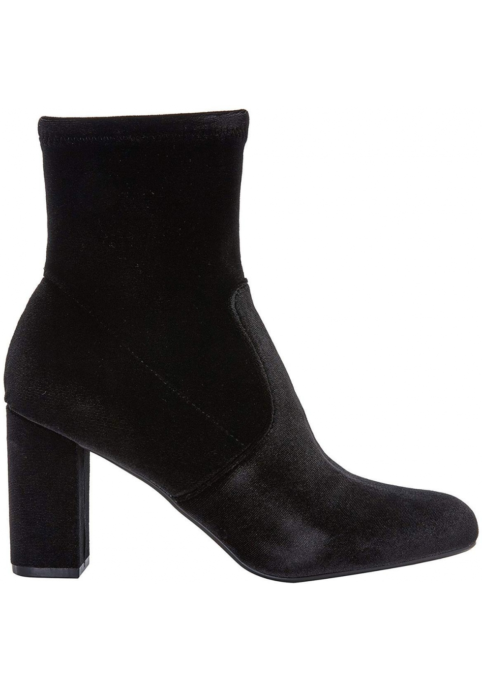 9362c75a60a Steve Madden Women's block heels ankle boots in black velvet with ...