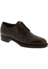 Prada Women's fashion oxford lace-ups round toe shoes in brown calf leather